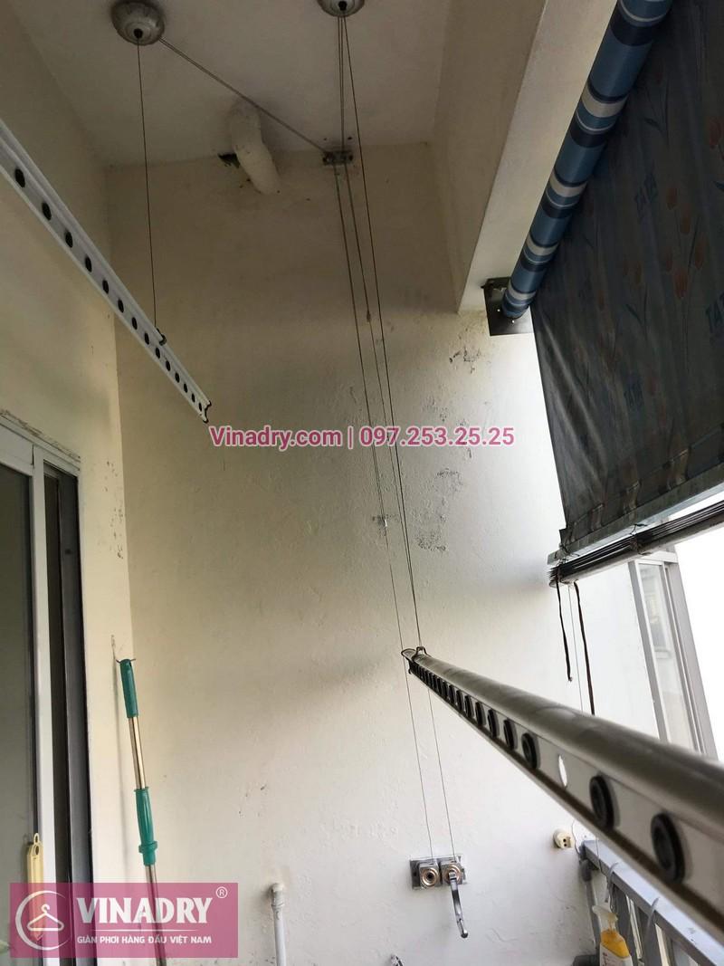 Vinadry thay dây cáp tốt, giá rẻ giàn phơi HP999B tại bán đảo Linh Đàm, Hoàng Mai cho nhà chị Bích - 02