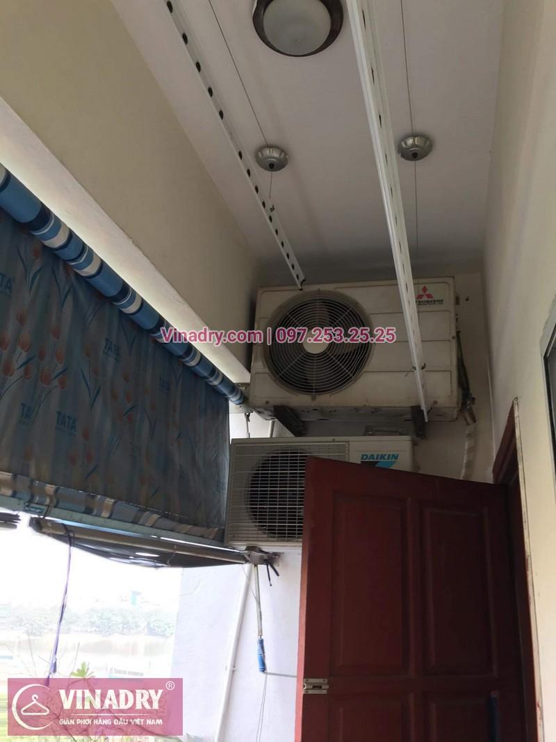 Vinadry thay dây cáp tốt, giá rẻ giàn phơi HP999B tại bán đảo Linh Đàm, Hoàng Mai cho nhà chị Bích - 04