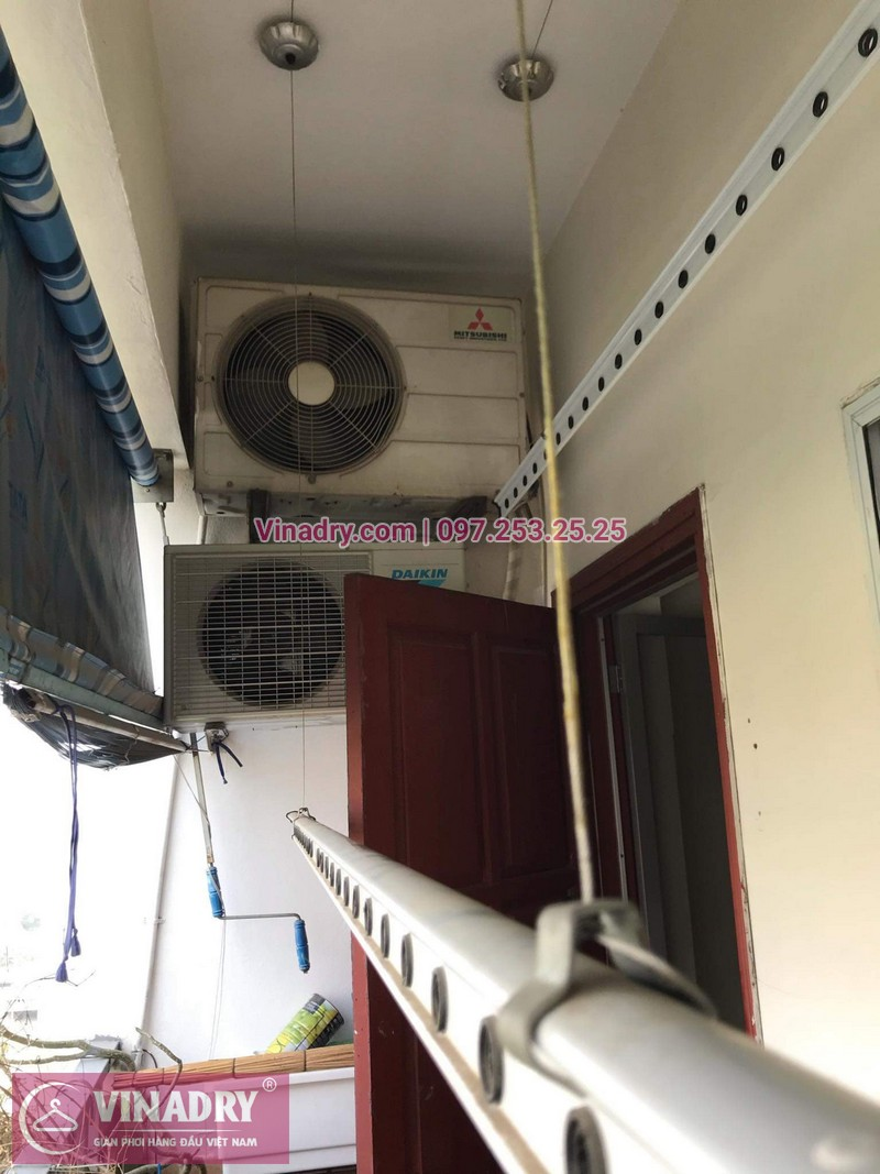 Vinadry thay dây cáp tốt, giá rẻ giàn phơi HP999B tại bán đảo Linh Đàm, Hoàng Mai cho nhà chị Bích - 06