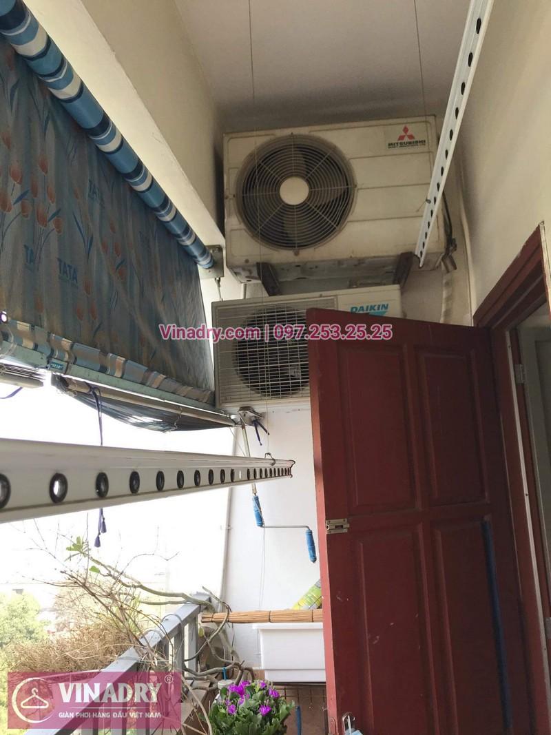 Vinadry thay dây cáp tốt, giá rẻ giàn phơi HP999B tại bán đảo Linh Đàm, Hoàng Mai cho nhà chị Bích - 07