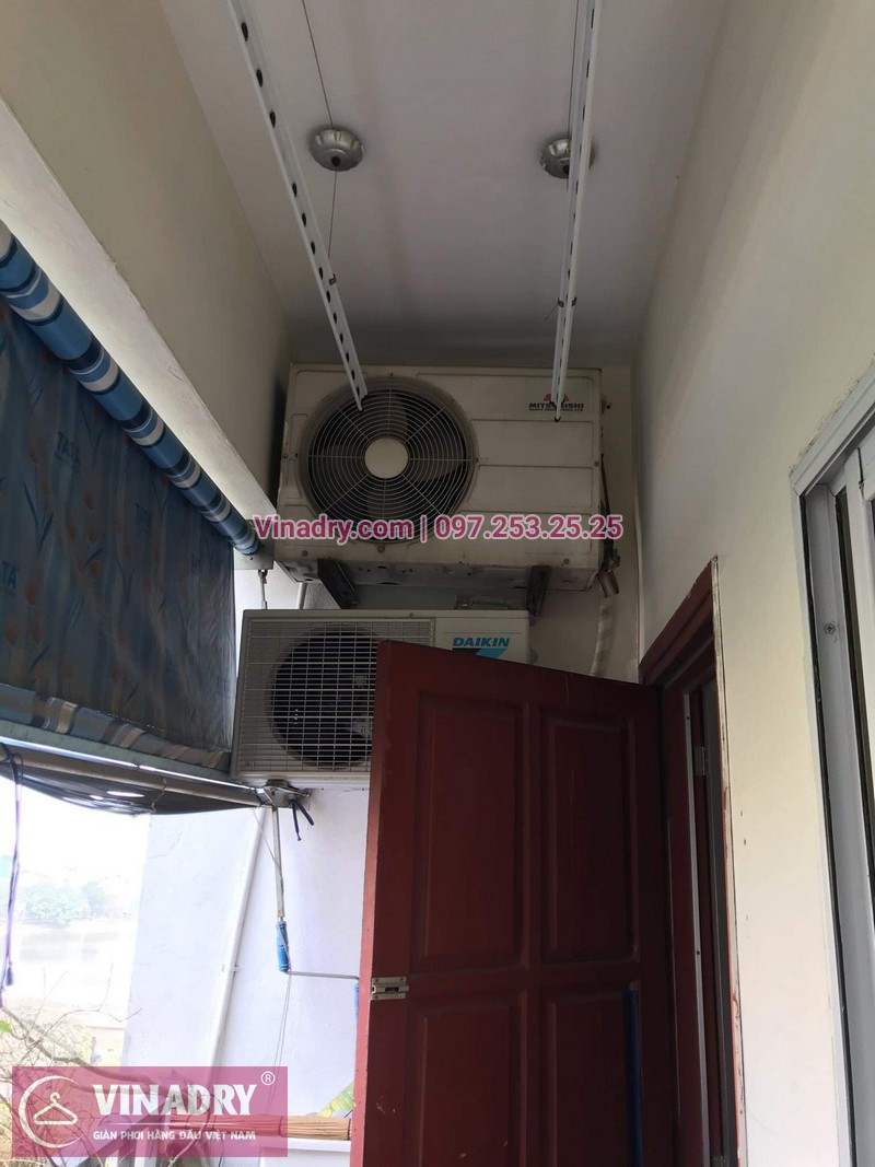 Vinadry thay dây cáp tốt, giá rẻ giàn phơi HP999B tại bán đảo Linh Đàm, Hoàng Mai cho nhà chị Bích - 08