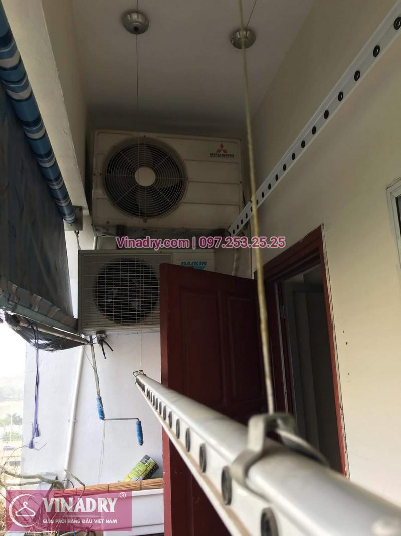 Vinadry thay dây cáp tốt, giá rẻ giàn phơi HP999B tại bán đảo Linh Đàm, Hoàng Mai cho nhà chị Bích - 11