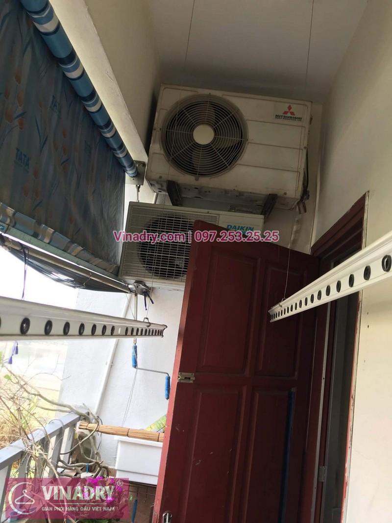 Vinadry thay dây cáp tốt, giá rẻ giàn phơi HP999B tại bán đảo Linh Đàm, Hoàng Mai cho nhà chị Bích - 13