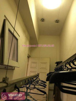 Sửa chữa giàn phơi Hai Bà Trưng - Vinadry thay dây cáp giàn phơi ở chung cư 25 Lạc Trung, Hai Bà Trưng cho nhà anh Cần