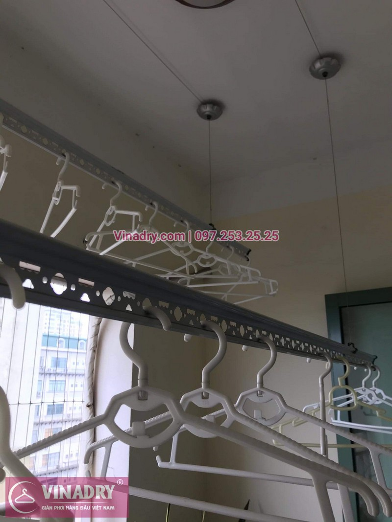 Vinadry sửa giàn phơi thông minh - Thay dây cáp cho giàn phơi HP999B tại chung cư Sky Light ngõ Hòa Bình 6 Minh Khai, Hai Bà Trưng cho nhà anh Trí - 02