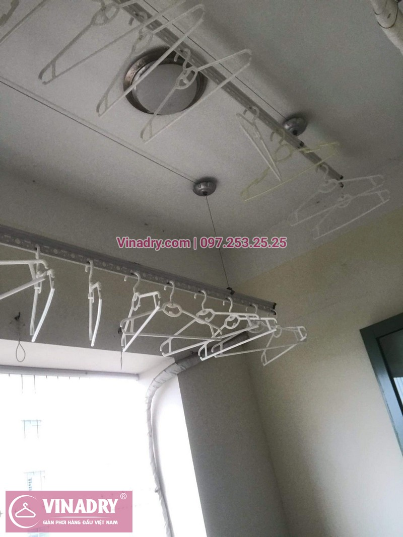 Vinadry sửa giàn phơi thông minh - Thay dây cáp cho giàn phơi HP999B tại chung cư Sky Light ngõ Hòa Bình 6 Minh Khai, Hai Bà Trưng cho nhà anh Trí - 07