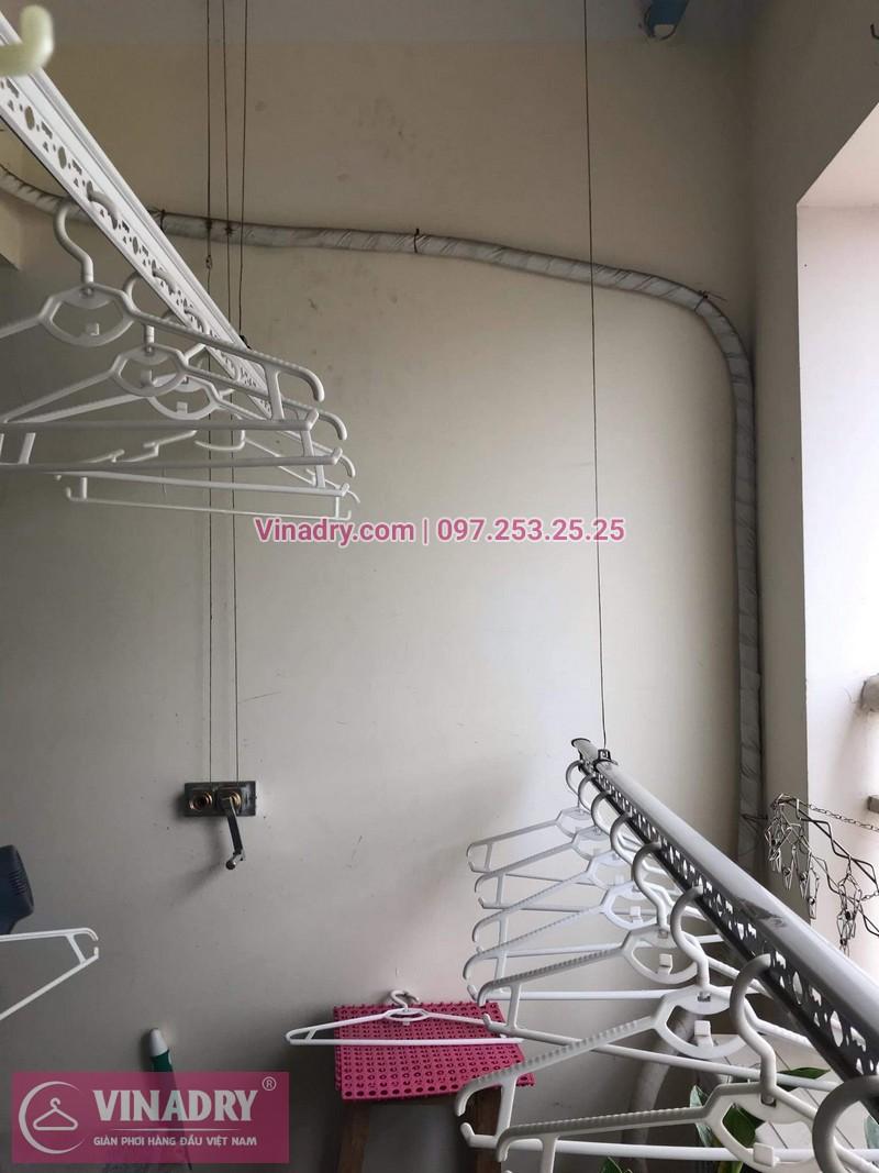 Vinadry sửa giàn phơi thông minh - Thay dây cáp cho giàn phơi HP999B tại chung cư Sky Light ngõ Hòa Bình 6 Minh Khai, Hai Bà Trưng cho nhà anh Trí - 08