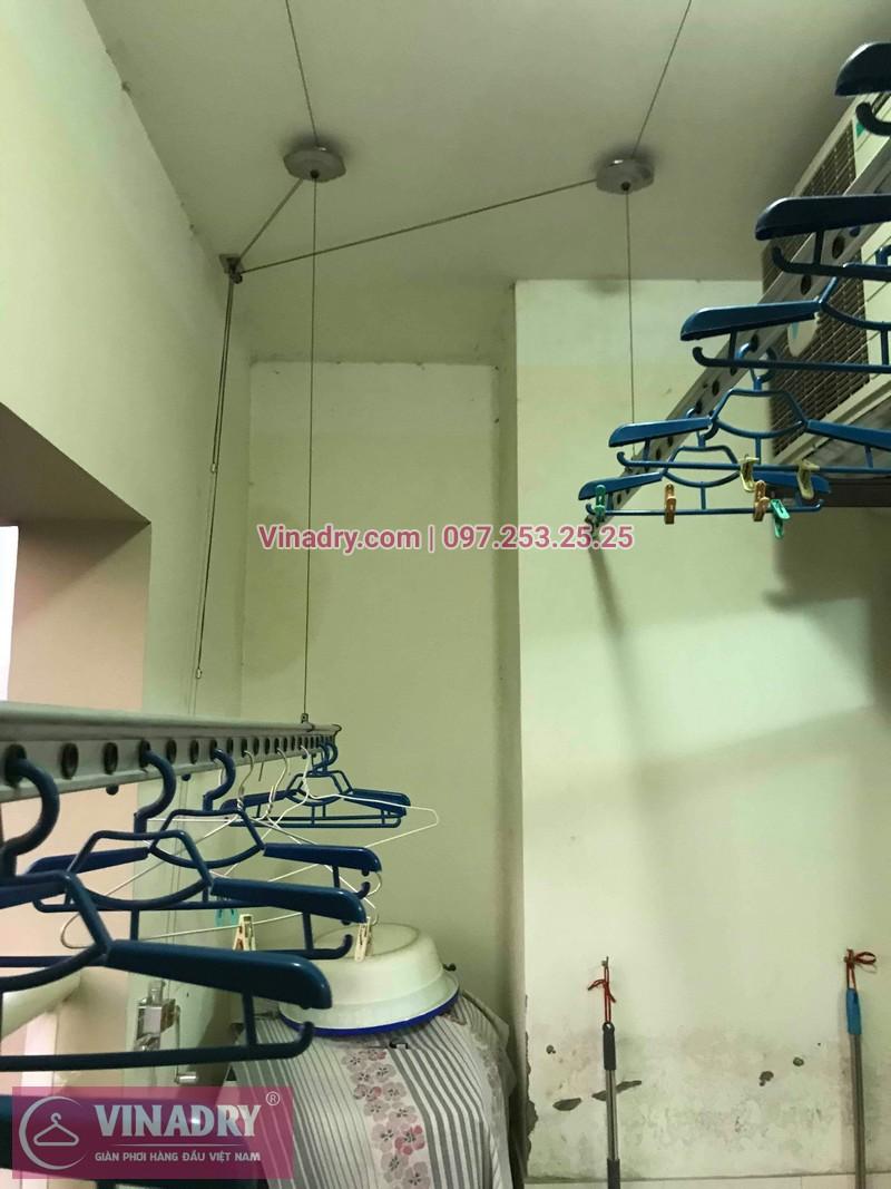 Vinadry sửa chữa giàn phơi tại Hoàng Mai - Thay cáp giàn phơi tại chung cư skyline ngõ Hòa Bình 6, Hoàng Mai cho nhà chú Tâm - 01