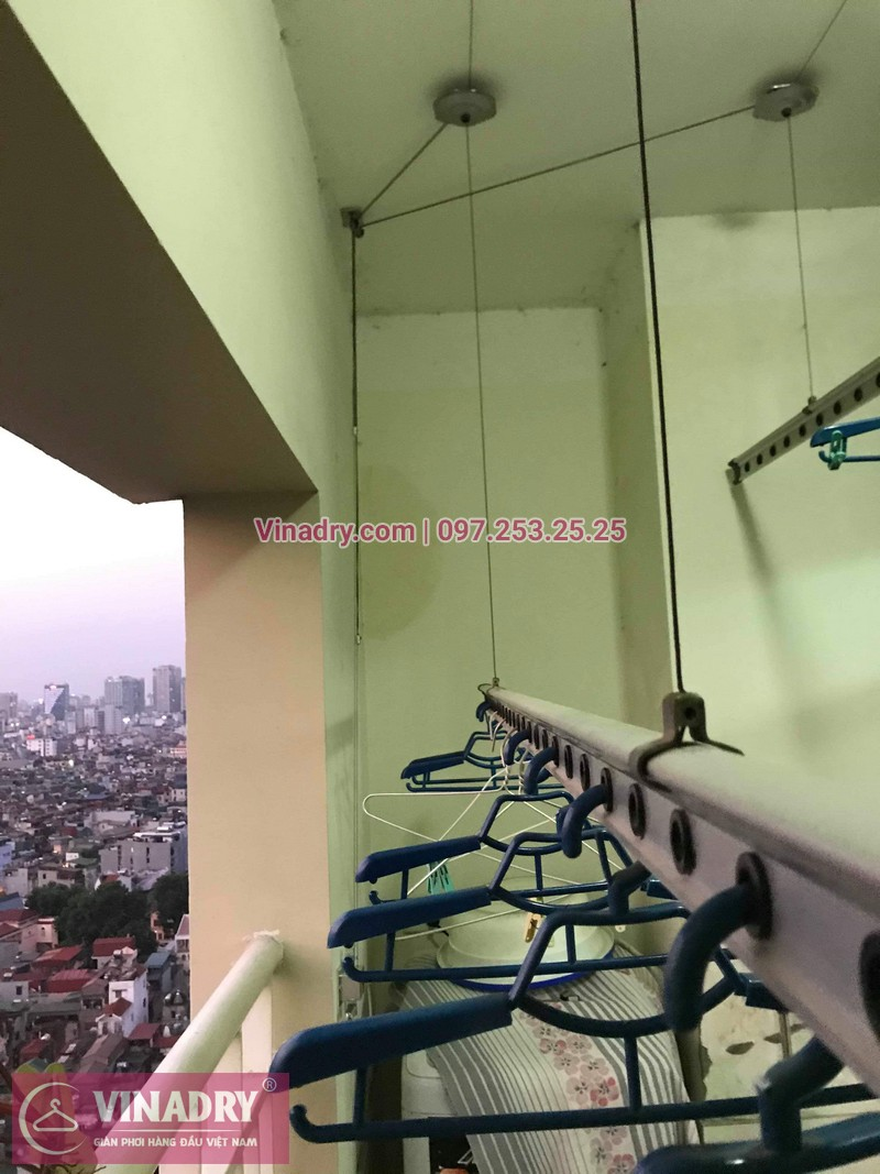 Vinadry sửa chữa giàn phơi tại Hoàng Mai - Thay cáp giàn phơi tại chung cư skyline ngõ Hòa Bình 6, Hoàng Mai cho nhà chú Tâm - 07