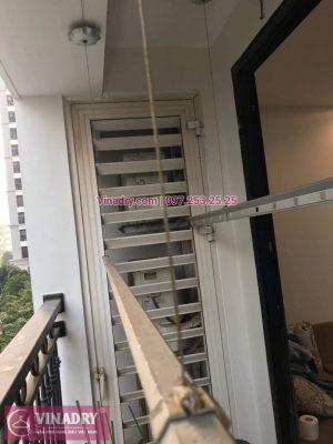 Vinadry sửa chữa giàn phơi tại TimesCity, thay dây cáp giàn phơi giá rẻ tại TimeCity cho nhà cô Hạnh, căn hộ 0312A
