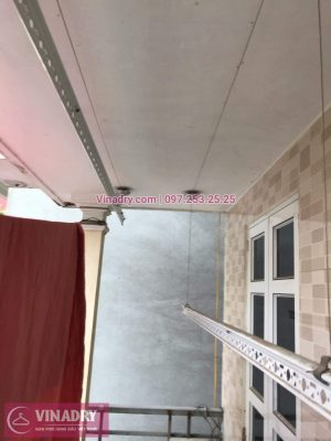 Sửa chữa giàn phơi Long Biên - Vinadry thay dây cáp ngoài giàn phơi cho nhà anh Chỉnh tại khu quân đội 918 gần sân gofl Long Biên - Thay linh kiện giàn phơi 24/24