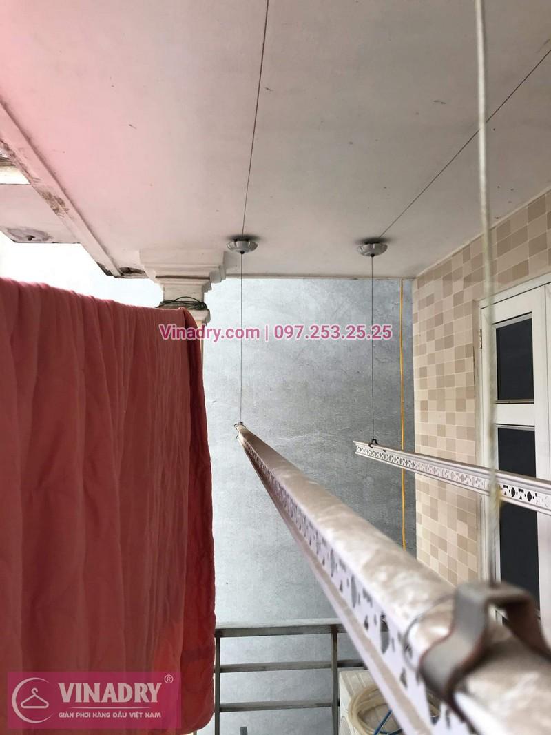Sửa chữa giàn phơi Long Biên - Vinadry thay dây cáp ngoài giàn phơi cho nhà anh Chỉnh tại khu quân đội 918 gần sân gofl Long Biên - 03