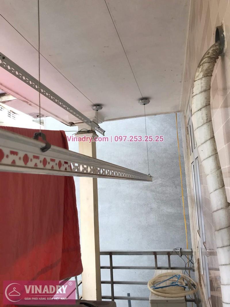 Sửa chữa giàn phơi Long Biên - Vinadry thay dây cáp ngoài giàn phơi cho nhà anh Chỉnh tại khu quân đội 918 gần sân gofl Long Biên - 04