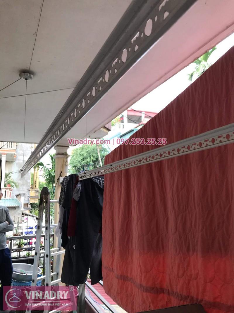 Sửa chữa giàn phơi Long Biên - Vinadry thay dây cáp ngoài giàn phơi cho nhà anh Chỉnh tại khu quân đội 918 gần sân gofl Long Biên - 05