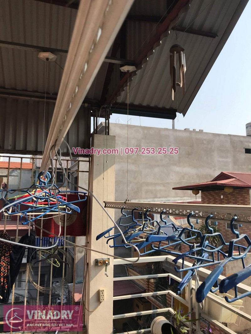 Vinadry sửa chữa giàn phơi tại Long Biên - Thay bộ tời HP999B cho giàn phơi thông minh tại Long Biên cho nhà cô Qúy - 11