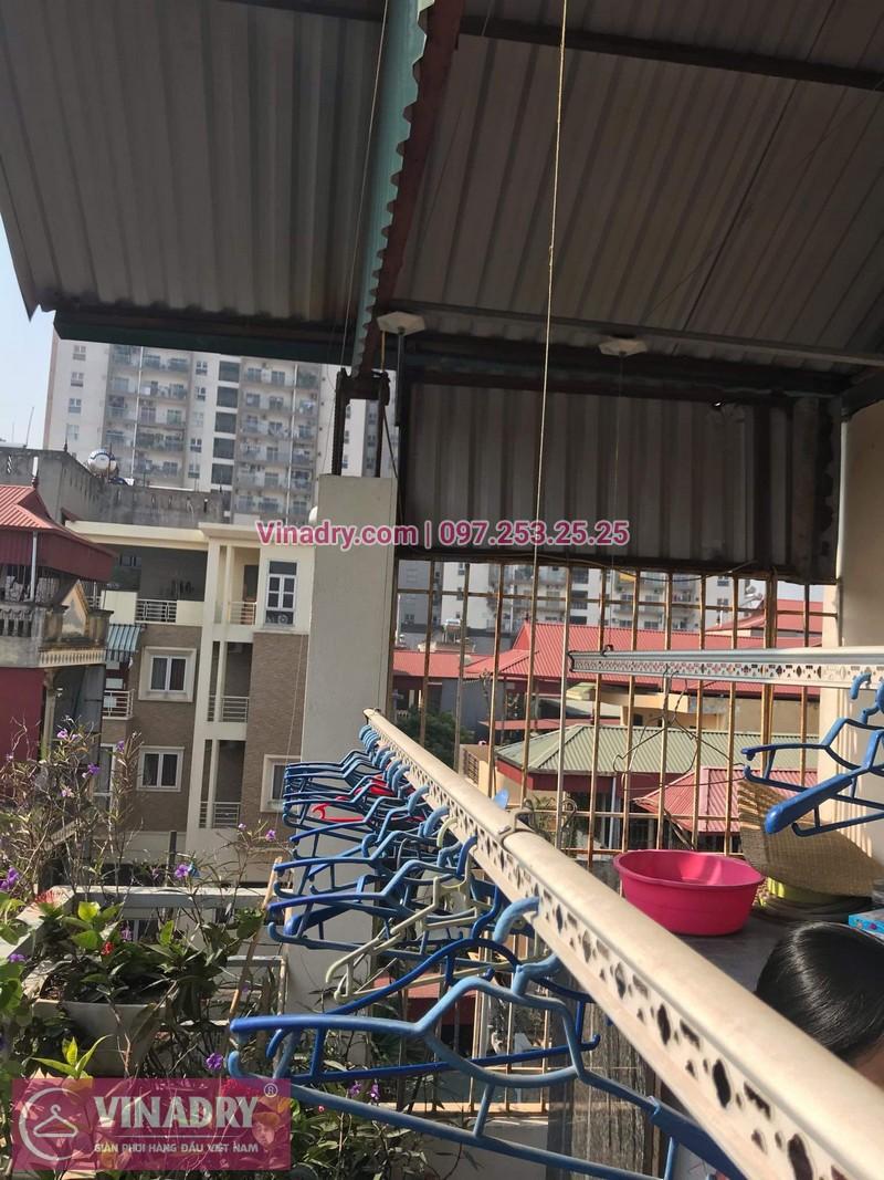 Vinadry sửa chữa giàn phơi tại Long Biên - Thay bộ tời HP999B cho giàn phơi thông minh tại Long Biên cho nhà cô Qúy - 10