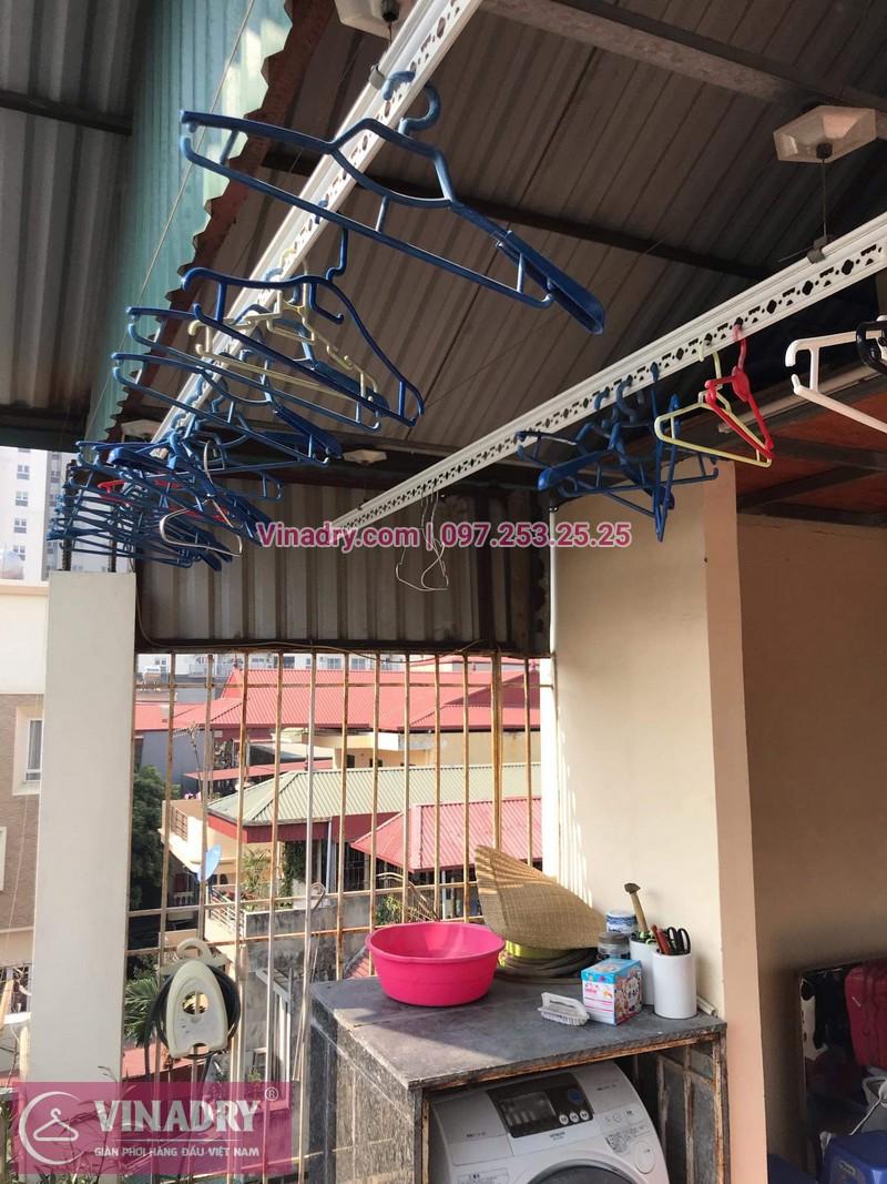 Vinadry sửa chữa giàn phơi tại Long Biên - Thay bộ tời HP999B cho giàn phơi thông minh tại Long Biên cho nhà cô Qúy - 07