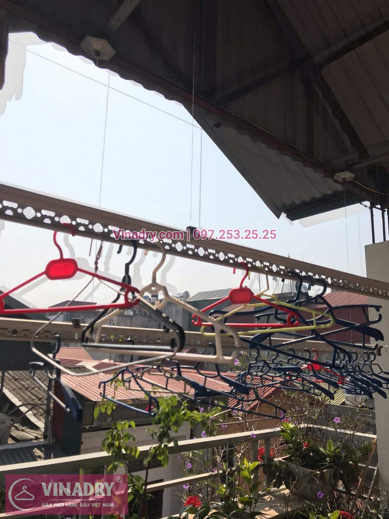 Vinadry sửa chữa giàn phơi tại Long Biên - Thay bộ tời HP999B cho giàn phơi thông minh tại Long Biên cho nhà cô Qúy - 06
