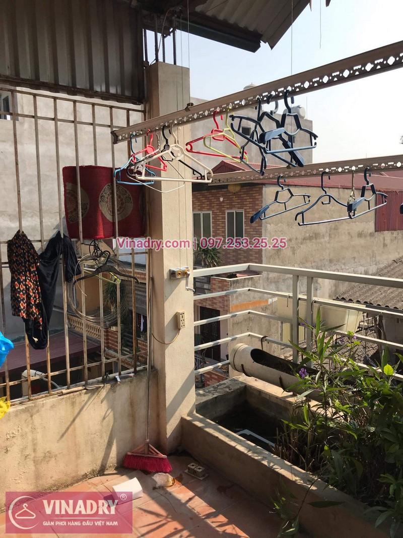 Vinadry sửa chữa giàn phơi tại Long Biên - Thay bộ tời HP999B cho giàn phơi thông minh tại Long Biên cho nhà cô Qúy - 04