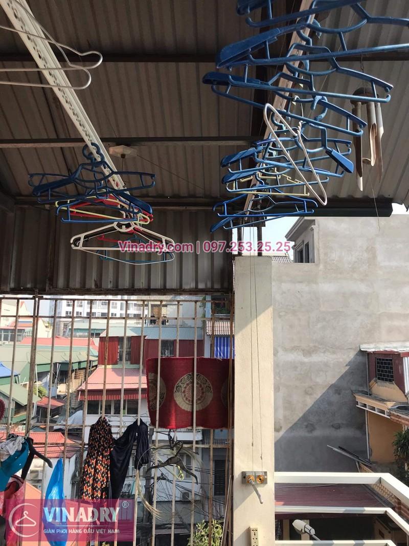 Vinadry sửa chữa giàn phơi tại Long Biên - Thay bộ tời HP999B cho giàn phơi thông minh tại Long Biên cho nhà cô Qúy - 03