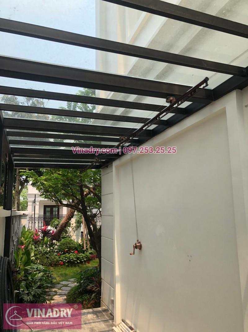Lắp giàn phơi thông minh tại nhà chú Khoa, Long Biên, Hà Nội - 02