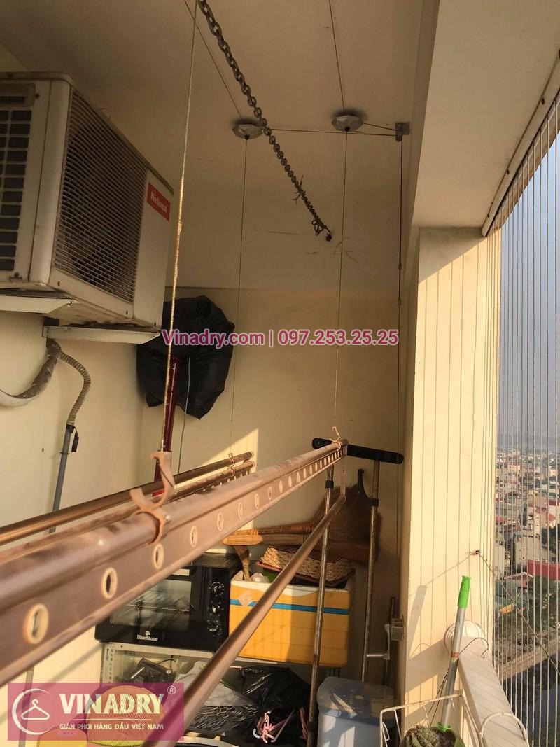 Thay linh kiện giàn phơi thông minh Hà Nội: nhà chị Mai tại căn 1411 ct1b chung cư Nam Đô, 609 Trương Định - 02