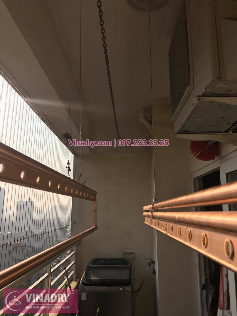 Thay linh kiện giàn phơi thông minh Hà Nội: nhà chị Mai tại căn 1411 ct1b chung cư Nam Đô, 609 Trương Định - 03