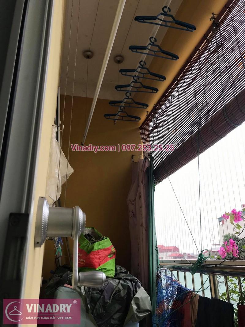 Lắp giàn phơi thông minh Hà Nội: chị Hoa tại nhà C1, Ngõ 66, Vũ Xuân Thiều, Sài Đồng, Long Biên - 01