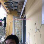 Lắp giàn phơi thông minh Hà Nội: chị Hoa tại nhà C1, Ngõ 66, Vũ Xuân Thiều, Sài Đồng, Long Biên