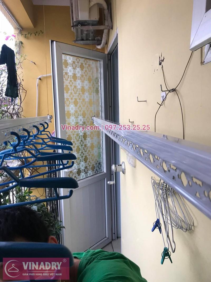 Lắp giàn phơi thông minh Hà Nội: chị Hoa tại nhà C1, Ngõ 66, Vũ Xuân Thiều, Sài Đồng, Long Biên - 02