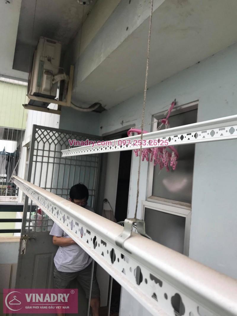 Sửa giàn phơi thông minh tại nhà: nhà cô Hoa ở chung cư CT4B-X2, Bắc Linh Đàm