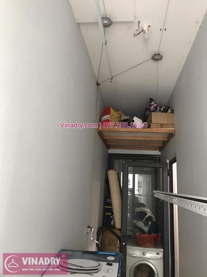Giàn phơi thông minh giá rẻ - Vinadry lắp giàn phơi HP999B tại Thanh Xuân, chung cư Golden West cho nhà chú Lai