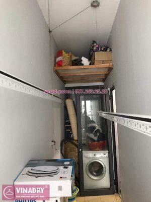Giàn phơi thông minh giá rẻ - Vinadry lắp giàn phơi HP999B tại Thanh Xuân, chung cư Golden West cho nhà chú Lai - Giàn phơi Hòa Phát bền bỉ, có bảo hành, lắp đặt giàn phơi nhanh nhất