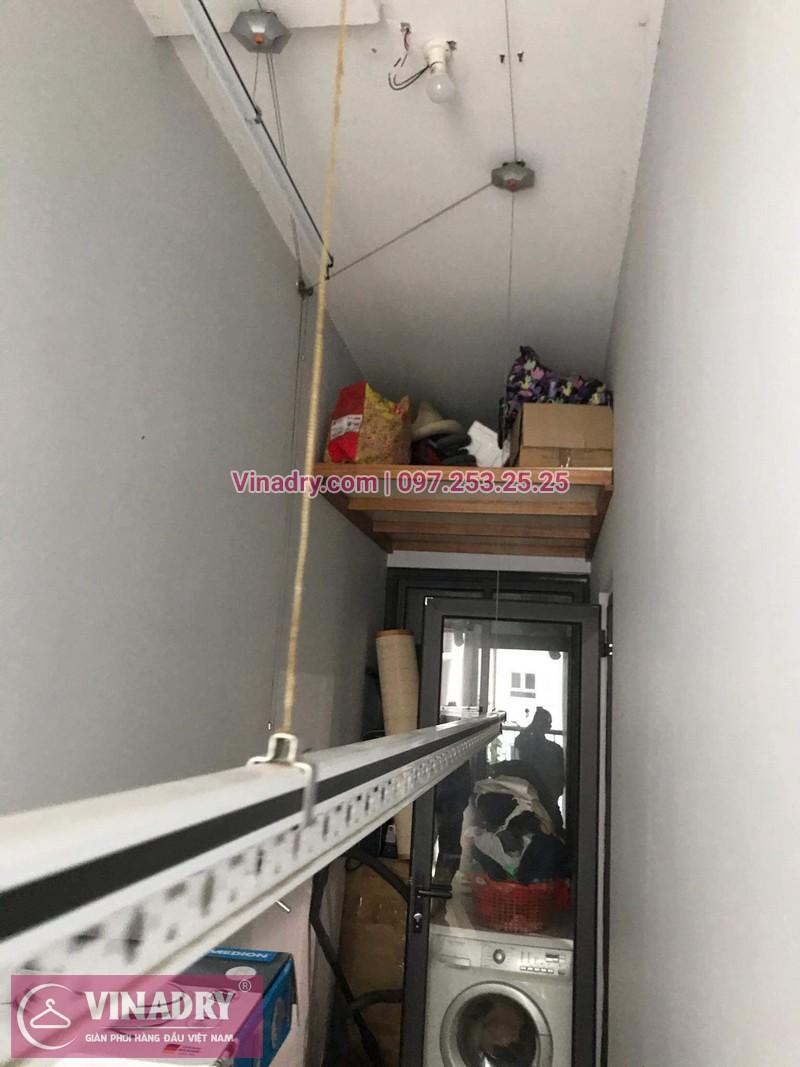 Giàn phơi thông minh giá rẻ - Vinadry lắp giàn phơi HP999B tại Thanh Xuân, chung cư Golden West cho nhà chú Lai - ảnh 09