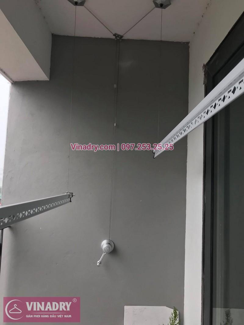 Lắp giàn phơi thông minh tại nhà chị Hoa, tòa N08, Giang Biên, Long Biên, Hà Nội - 3