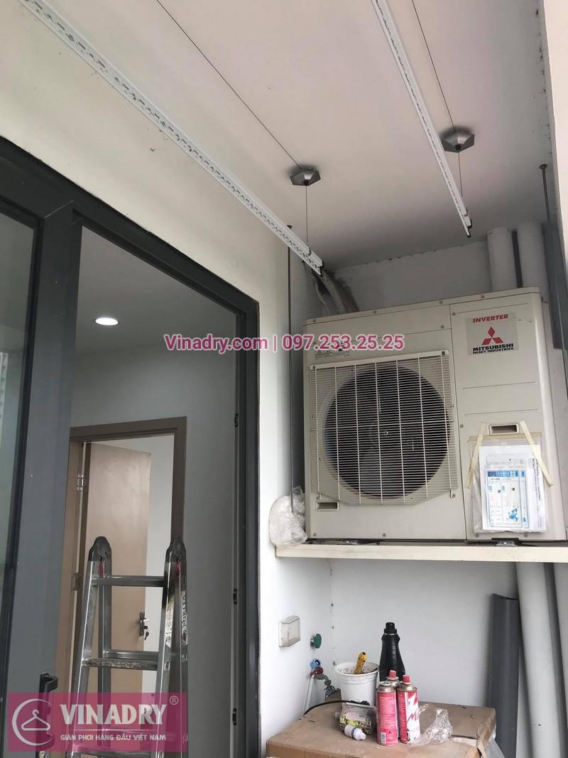 Lắp giàn phơi thông minh tại nhà chị Hoa, tòa N08, Giang Biên, Long Biên, Hà Nội - 2