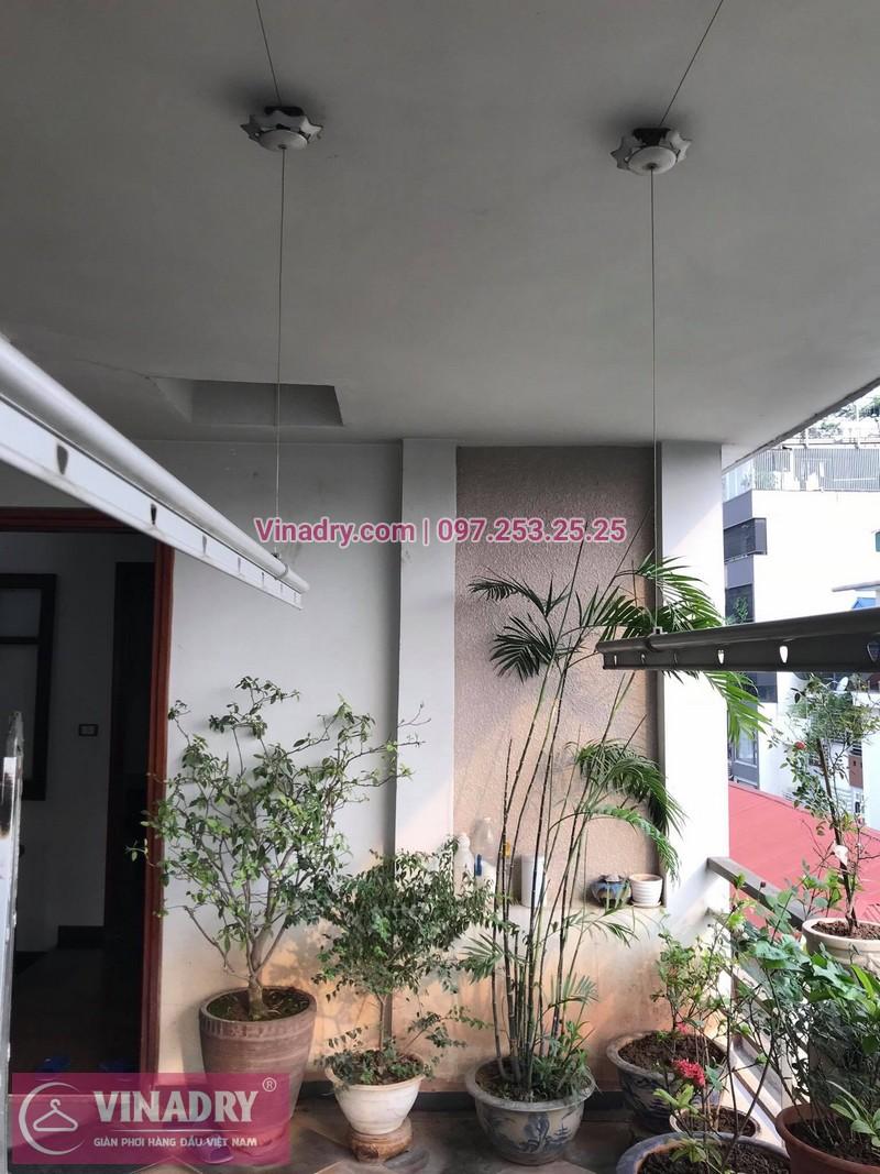 Sửa giàn phơi thông minh Huỳnh Thúc Kháng tại nhà anh Ngọc, số 9, ngõ 55 - 1