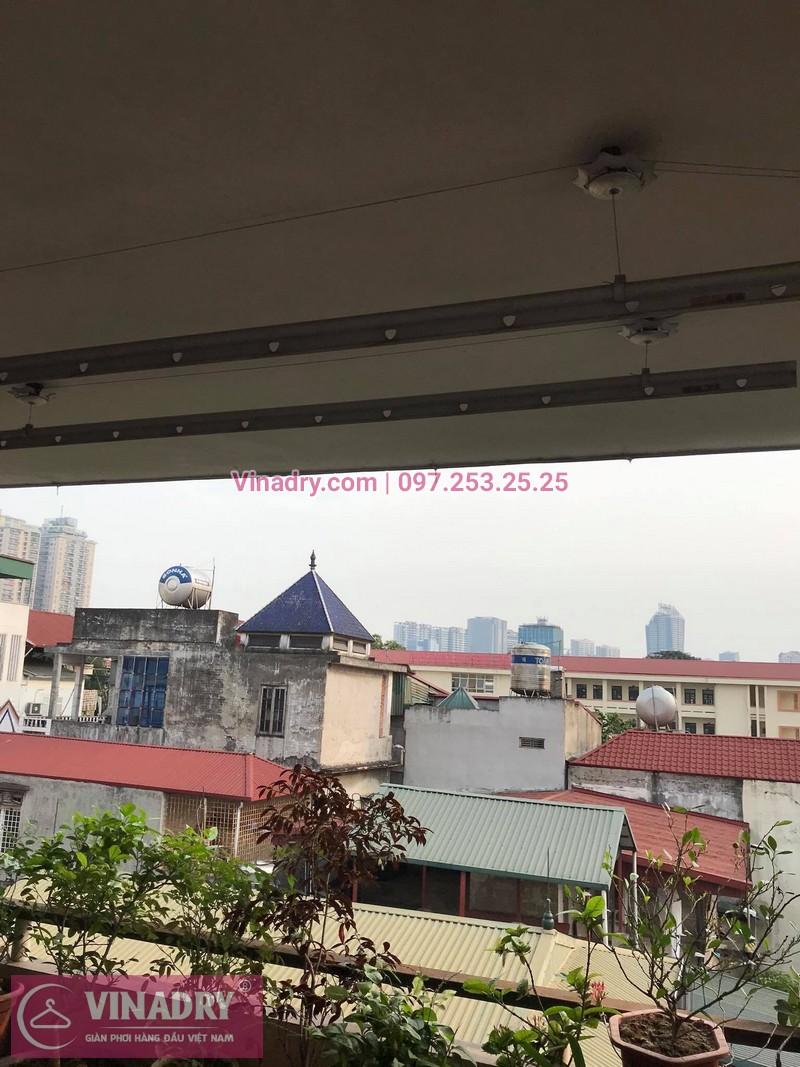Sửa giàn phơi thông minh Huỳnh Thúc Kháng tại nhà anh Ngọc, số 9, ngõ 55 - 4