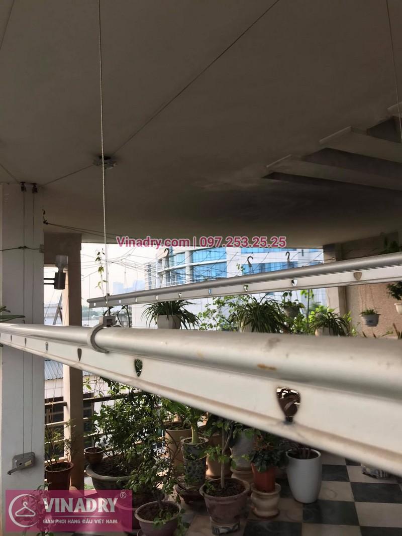 Sửa giàn phơi thông minh Huỳnh Thúc Kháng tại nhà anh Ngọc, số 9, ngõ 55 - 2