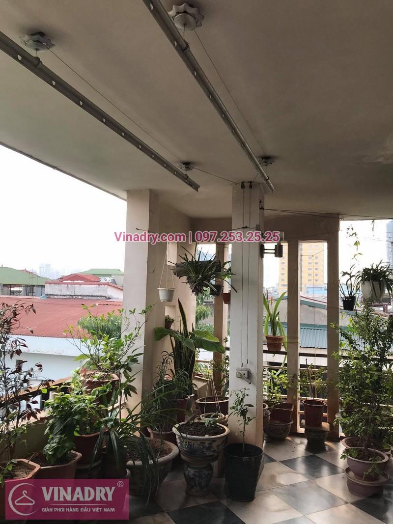 Sửa giàn phơi thông minh Huỳnh Thúc Kháng tại nhà anh Ngọc, số 9, ngõ 55 - 3