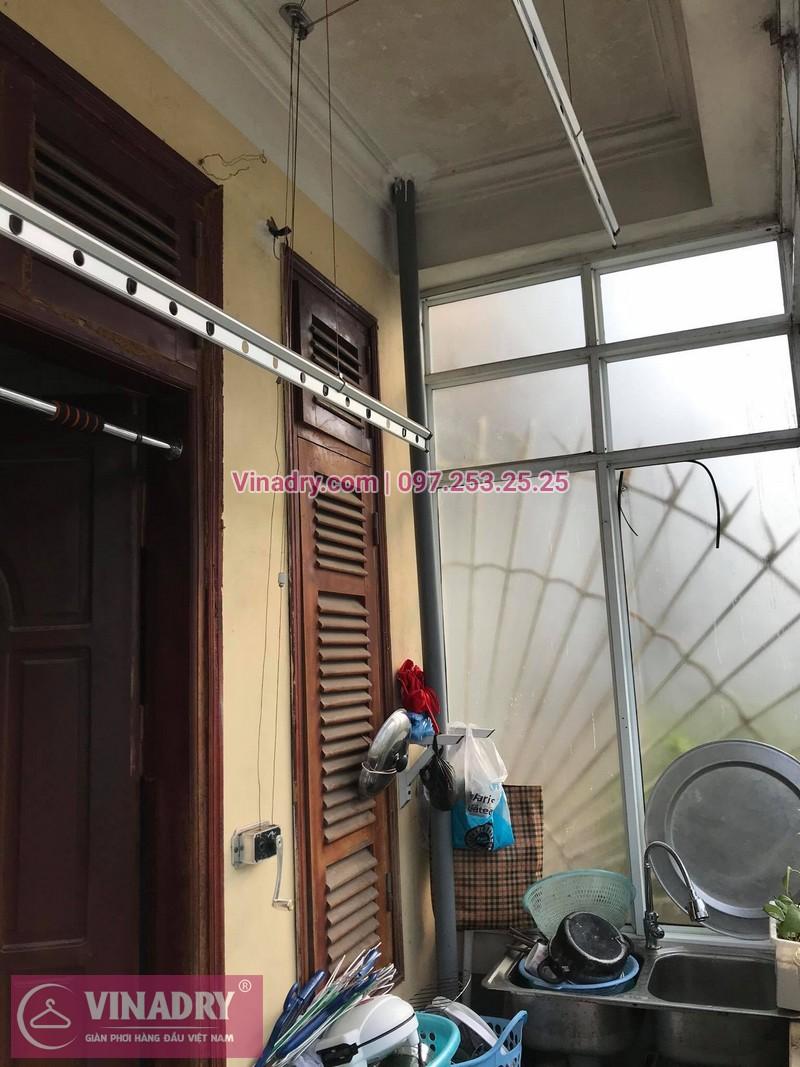 Thay dây cáp giàn phơi thông minh tại nhà chị Hoa số 35, Ngõ 27, Đại CồViệt, Hà Nội - 3