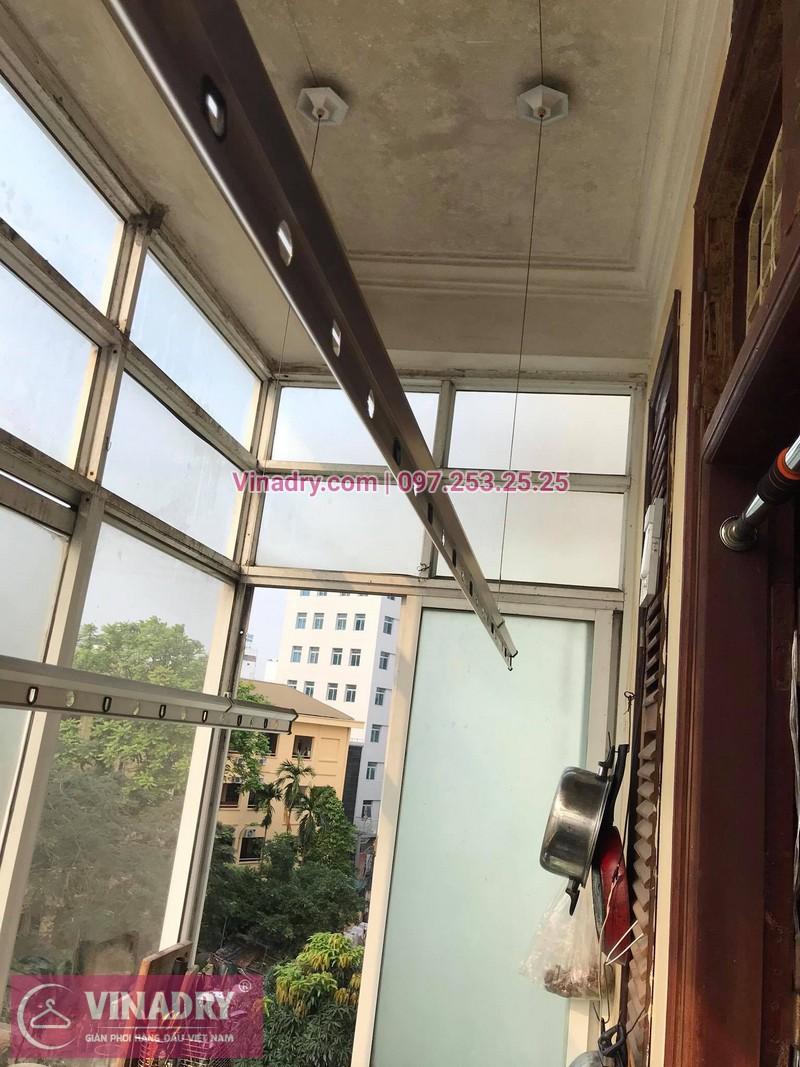 Thay dây cáp giàn phơi thông minh tại nhà chị Hoa số 35, Ngõ 27, Đại CồViệt, Hà Nội - 2