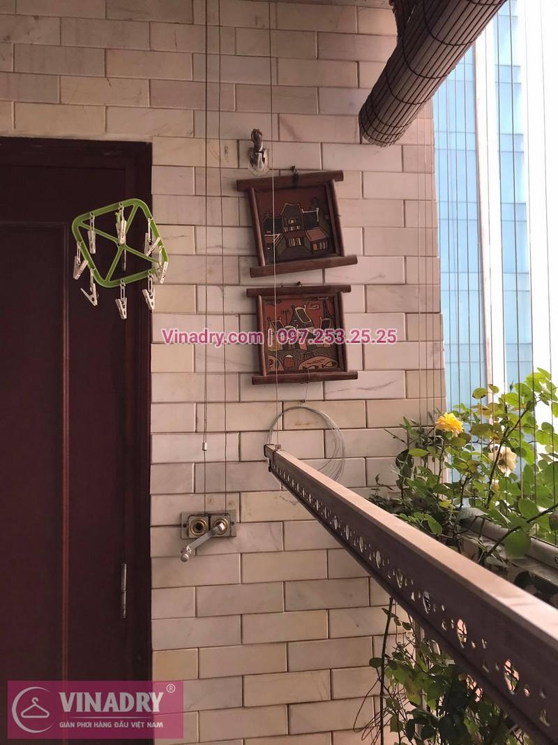 Sửa giàn phơi thông minh tại nhà chị Mai, chung cư Chợ Mơ, Bạch Mai, Hà Nội, - 2