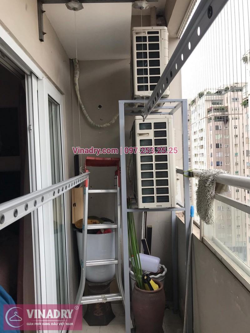 Sửa giàn phơi thông minh Vinadry tại nhà chị Hoa, căn 17T3, chung cư Hapulico, Thanh xuân