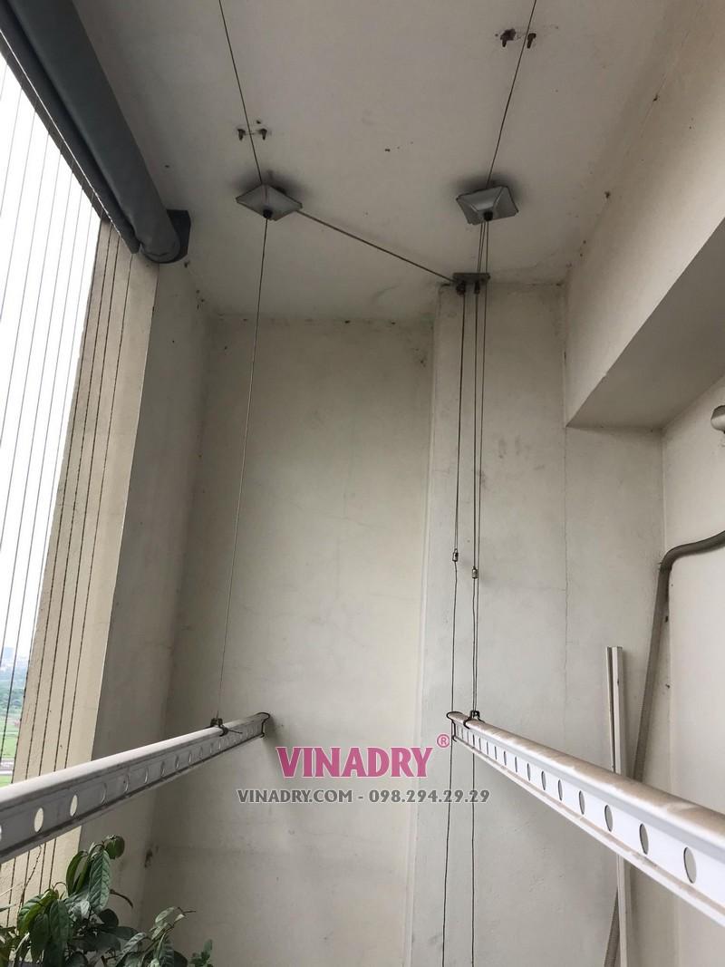 Sửa giàn phơi thông minh tại nhà anh Quang, Long Biên, Hà Nội