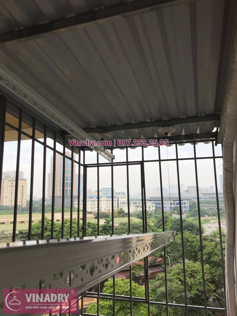 Lắp đặt giàn phơi thông minh tại Hà Nội: nhà anh Hòa, phòng 605, nhà B3B, Nam Trung Yên