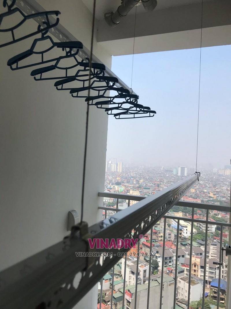Lắp giàn phơi thông minh tại Tòa nhà N03B, chung cư 87 Lĩnh Nam, Hà Nội