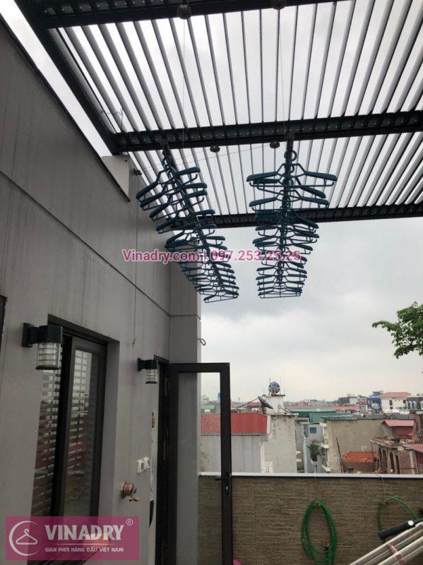 Lắp đặt giàn phơi thông minh Hà Nội tại nhà anh Hòa, Bồ Đề, Long Biên