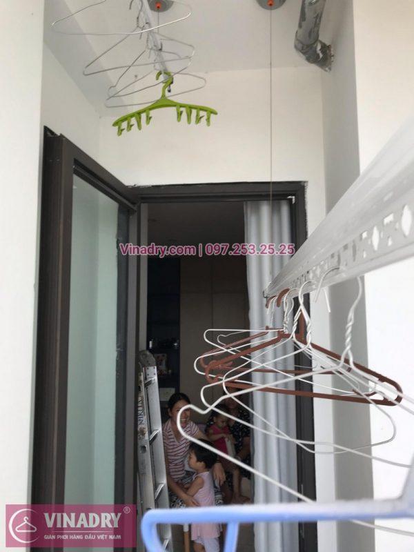 Sửa giàn phơi thông minh tòa N03A, chung cư 87 Lĩnh Nam nhà chị Nga