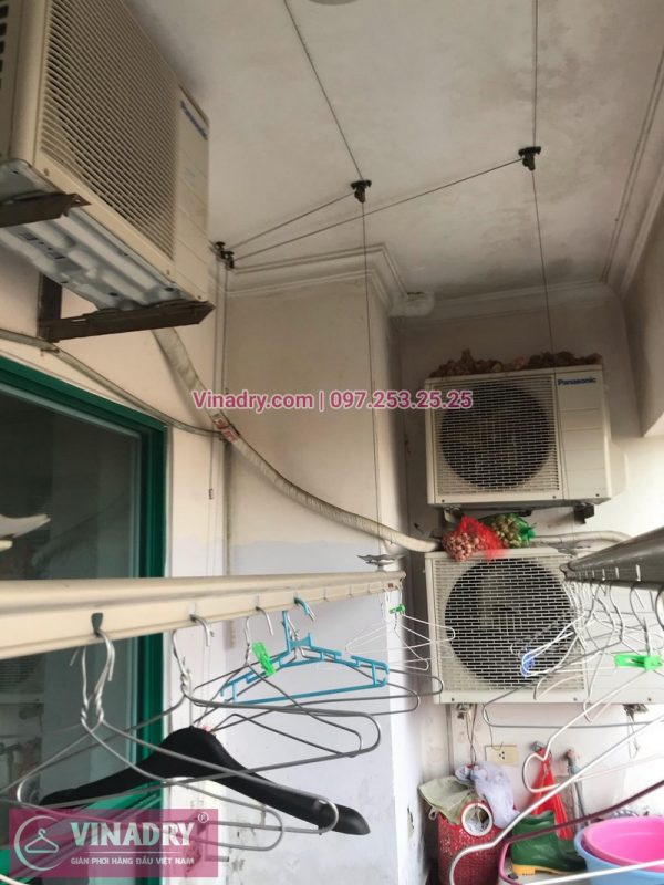 Sửa giàn phơi thông minh Cầu giấy tại nhà chị Nga, căn 509, chung cư 17T7, Trung Hòa